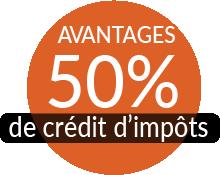 """Résultat de recherche d'images pour """"50% crédit d'impot"""""""